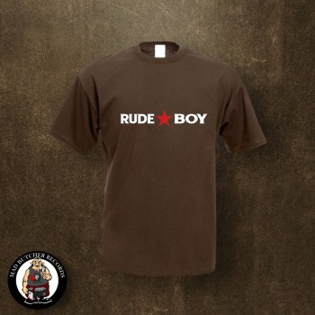 RUDE BOY REDSTAR T-SHIRT M / brown