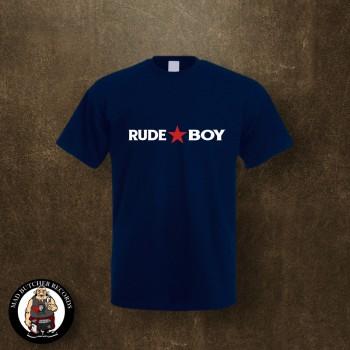 RUDE BOY REDSTAR T-SHIRT L / navy
