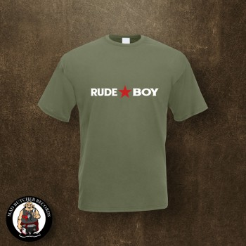 RUDE BOY REDSTAR T-SHIRT XL / OLIVE