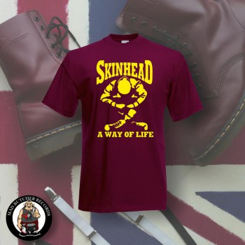 SKINHEAD A WAY OF LIFE T-SHIRT S / BORDEAUX ROT