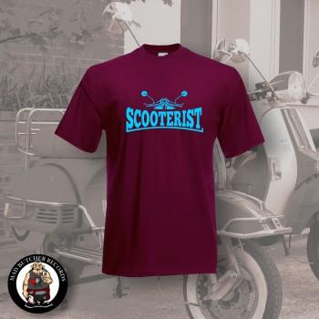 SCOOTERIST T-SHIRT M / BORDEAUX ROT