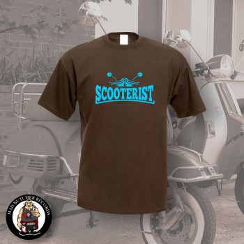 SCOOTERIST T-SHIRT S / BRAUN
