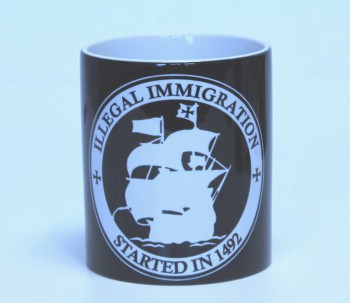 ILLEGAL IMMIGRATION KAFFEEBECHER