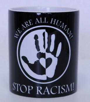 STOP RACISM KAFFEEBECHER