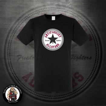 ANTIFASCIST ALLSTARS BLACK STAR T-SHIRT SCHWARZ / S