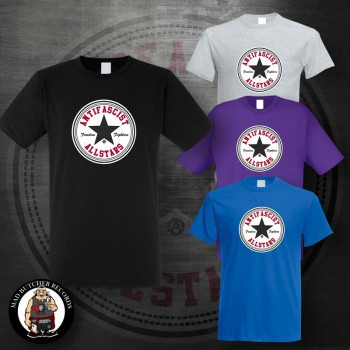 ANTIFASCIST ALLSTARS BLACK STAR T-SHIRT