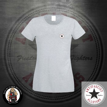 ANTIFASCIST ALLSTARS GIRLIE LOGO SMALL M / grey