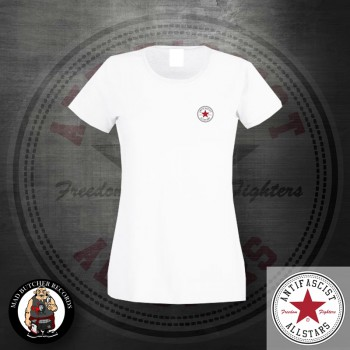 ANTIFASCIST ALLSTARS GIRLIE LOGO SMALL L / White