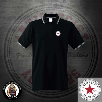 ANTIFASCIST ALLSTARS POLO Black / L