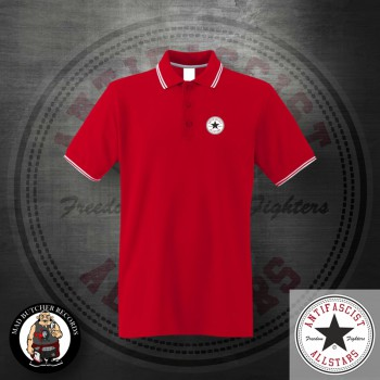 ANTIFASCIST ALLSTARS POLO XXL / red