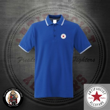 ANTIFASCIST ALLSTARS POLO L / ROYALBLUE
