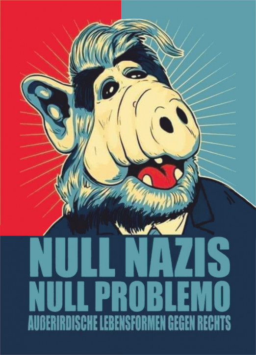 NULL NAZIS NULL PROBLEMO STICKER (10 units)