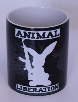 ANIMAL LIBERATION RABBIT KAFFEEBECHER