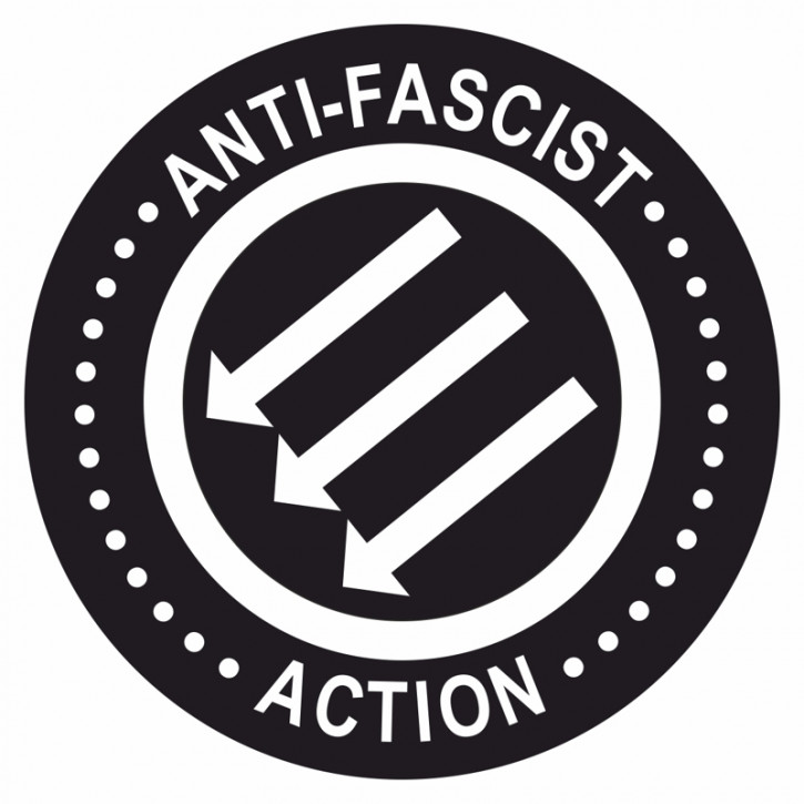 ANTIFASCIST ACTION ARROWS PVC STICKER