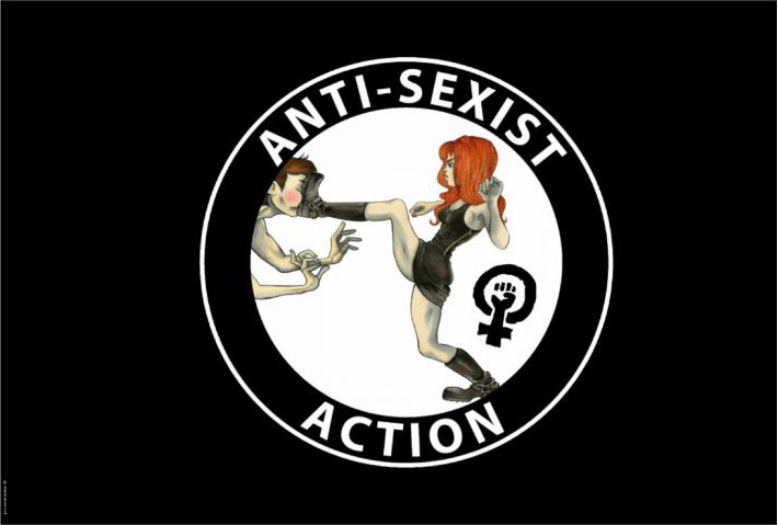 ANTI SEXIST ACTION FLAGGE