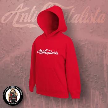 ANTI CAPITALISTA HOOD L / red