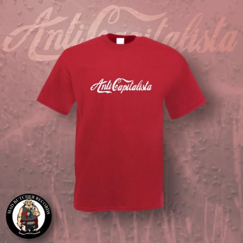 ANTI CAPITALISTA T-SHIRT L / red