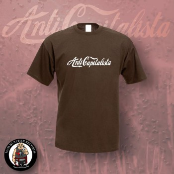 ANTI CAPITALISTA T-SHIRT L / brown