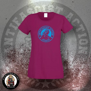 ANTIFASCIST ACTION GIRLIE S / BORDEAUX ROT