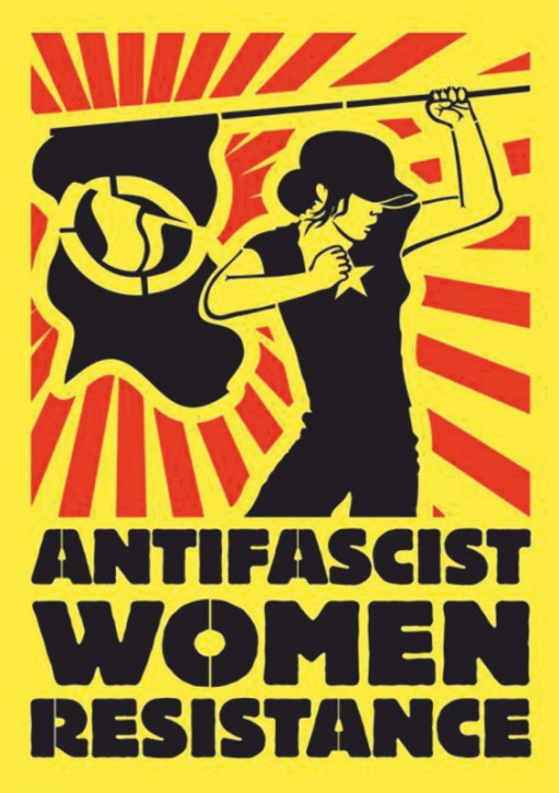 ANTIFASCIST WOMAN RESISTANCE STICKER (10 units)
