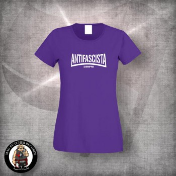ANTIFASCISTA SIEMPRE OLD SCHOOL GIRLIE L / PURPLE