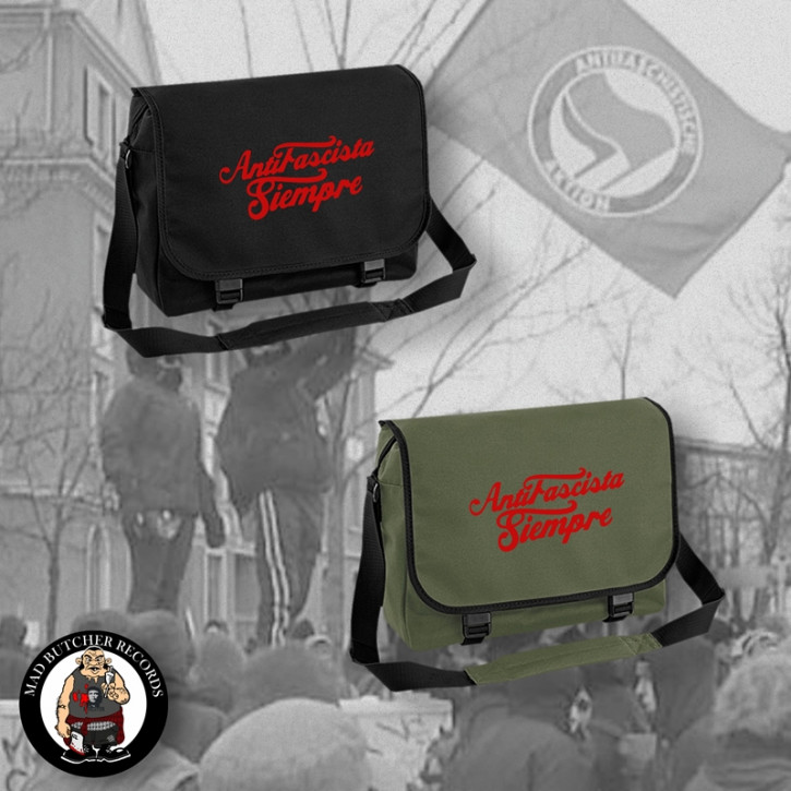 ANTIFASCISTA SIEMPRE MESSENGER BAG