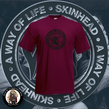 SHARP A WAY OF LIFE T-SHIRT 3XL / BORDEAUX ROT
