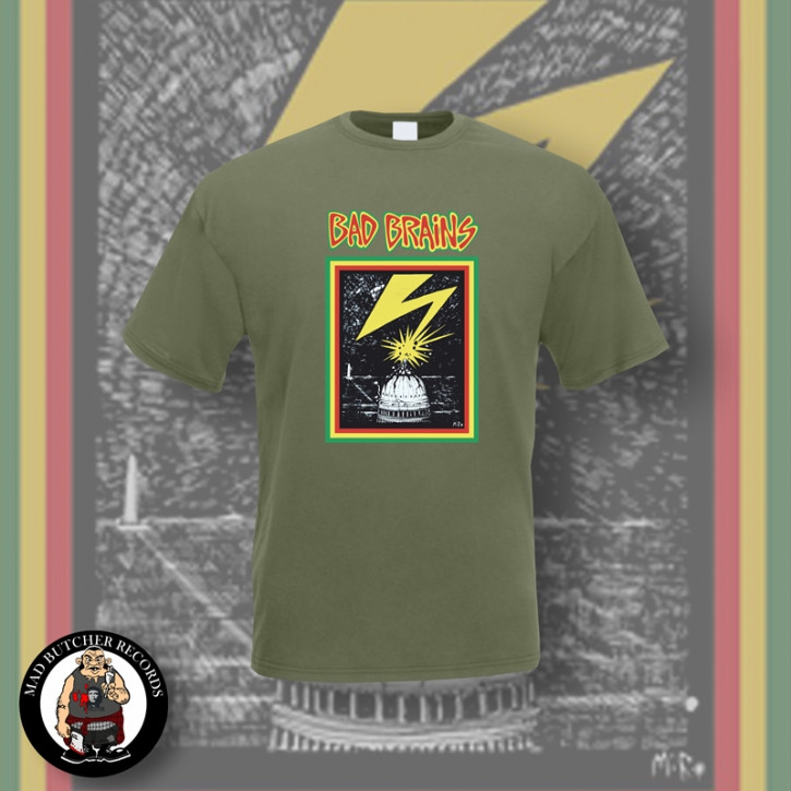 BAD BRAINS CAPITOL T-SHIRT S / OLIVE
