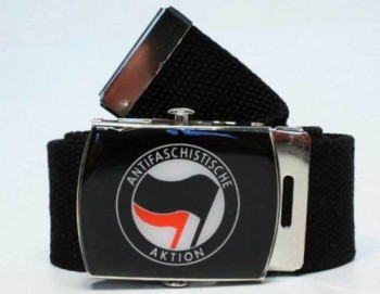 ANTIFASCHISTISCHE AKTION BELT BLACK/RED