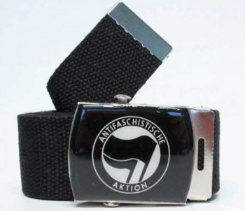 ANTIFASCHISTISCHE AKTION BELT BLACK/BLACK