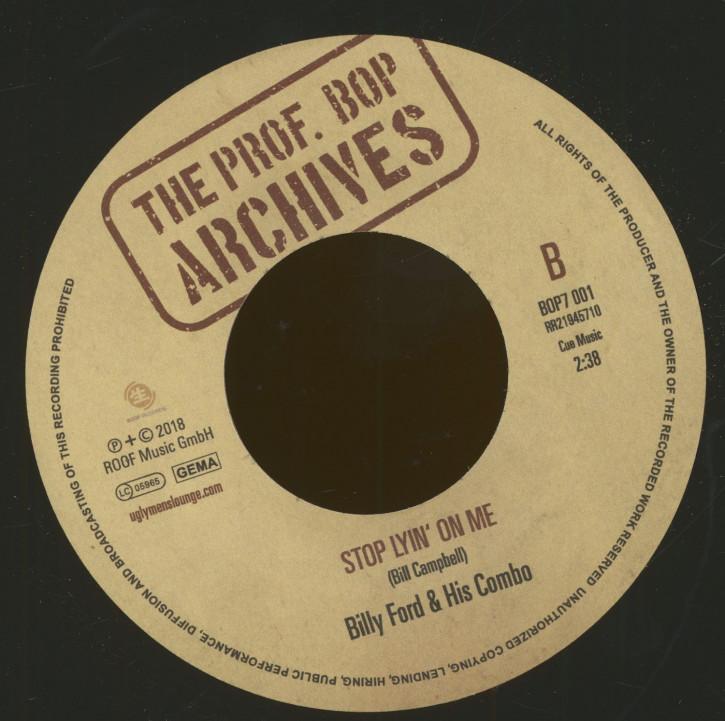 Turner, Titus 'Bla Bla Bla Cha Cha Cha' + Billy Ford & His Combo 'Stop Lyin' On Me' 7