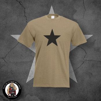 BLACK STAR T-SHIRT M / BEIGE