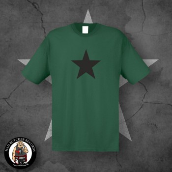 BLACK STAR T-SHIRT S / BOTTLEGREEN