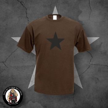 BLACK STAR T-SHIRT XL / BRAUN