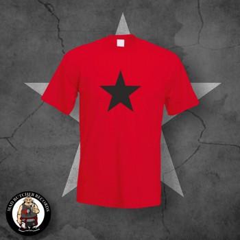 BLACK STAR T-SHIRT ROT / 5XL