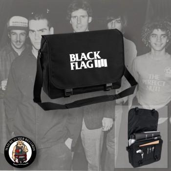 BLACK FLAG LOGO MESSENGER BAG SCHWARZ