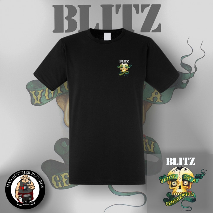 BLITZ VOICE OF A GENERATION SMALL T-SHIRT SCHWARZ / S