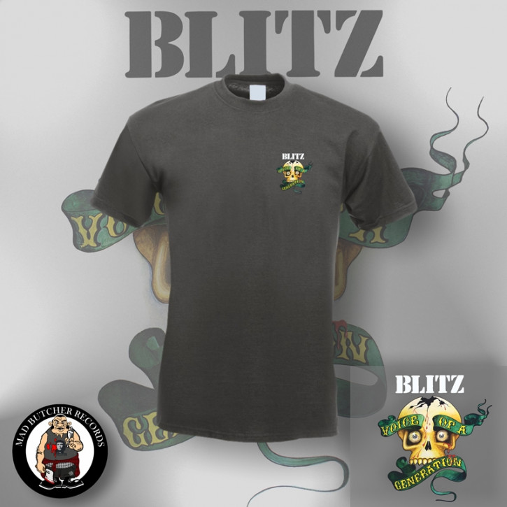 BLITZ VOICE OF A GENERATION SMALL T-SHIRT S / DUNKELGRAU