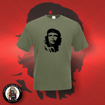 CHE HEAD T-SHIRT S / OLIVE