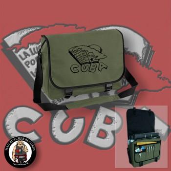 CUBA (LA LUCHA) MESSENGER BAG OLIVE