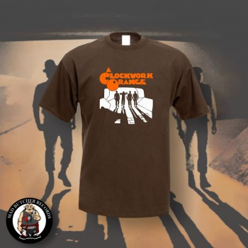 CLOCKWORK ORANGE DROOGIES T-SHIRT M / BRAUN