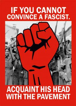 IF YOU CANNOT CONVINCE A FASCIST STICKER (10 UNITS)