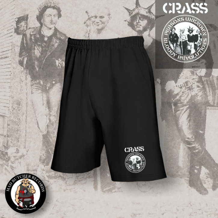 CRASS PERSONS UNKNOWN SHORTS SCHWARZ / M