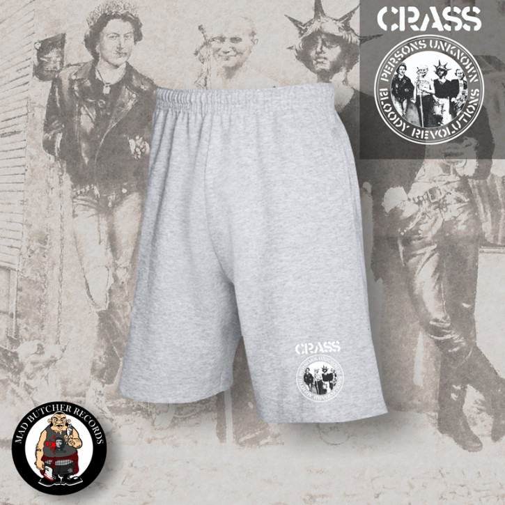 CRASS PERSONS UNKNOWN SHORTS M / GRAU