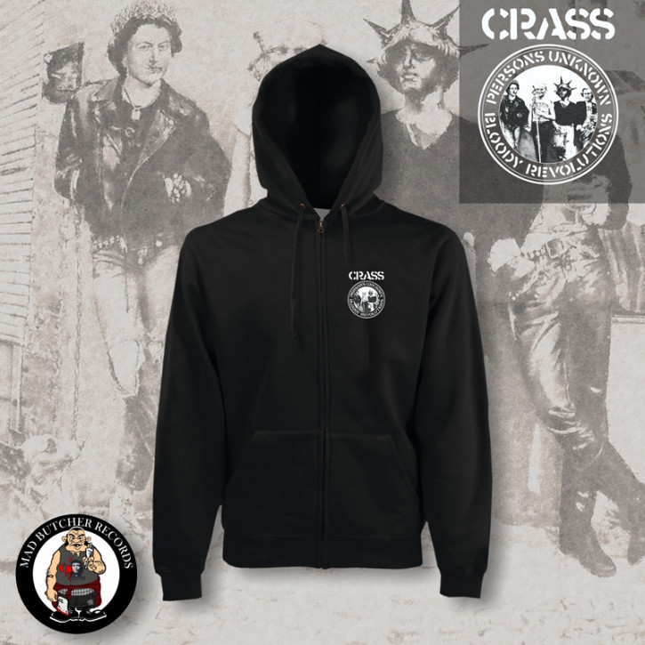 CRASS PERSONS UNKNOWN ZIPPER