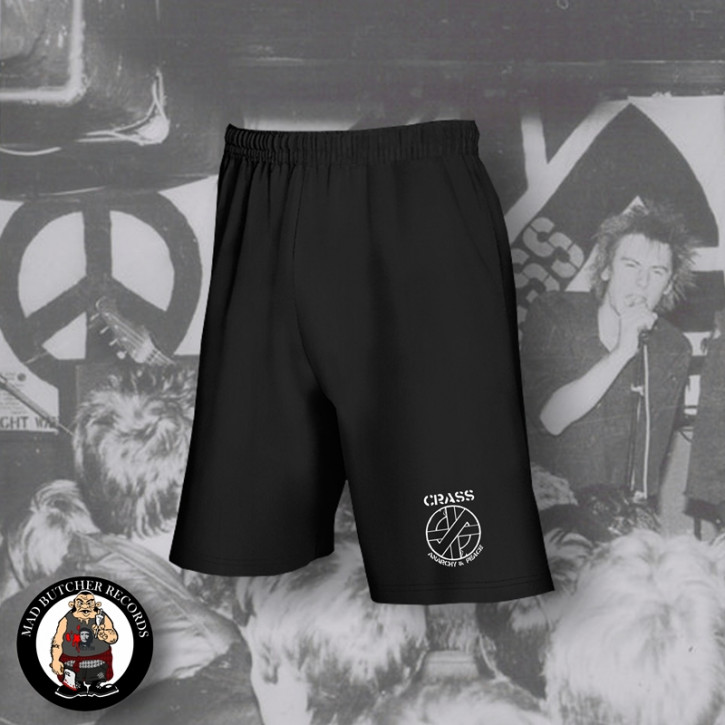 CRASS ANARCHY & PEACE SMALL SHORTS