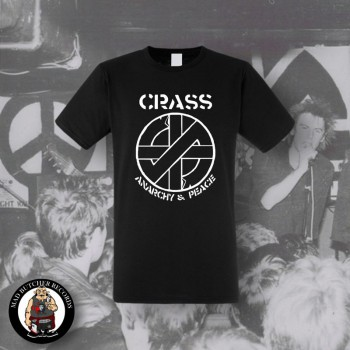CRASS ANARCHY & PEACE T-SHIRT SCHWARZ / M