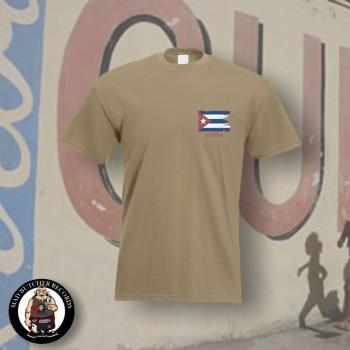 CUBA FLAG T-SHIRT L / BEIGE