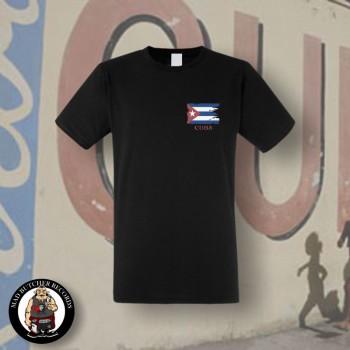 CUBA FLAG T-SHIRT SCHWARZ / XL