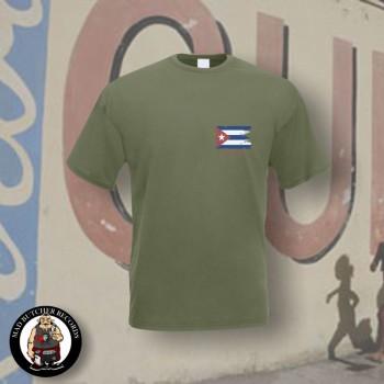 CUBA FLAG T-SHIRT XL / OLIVE